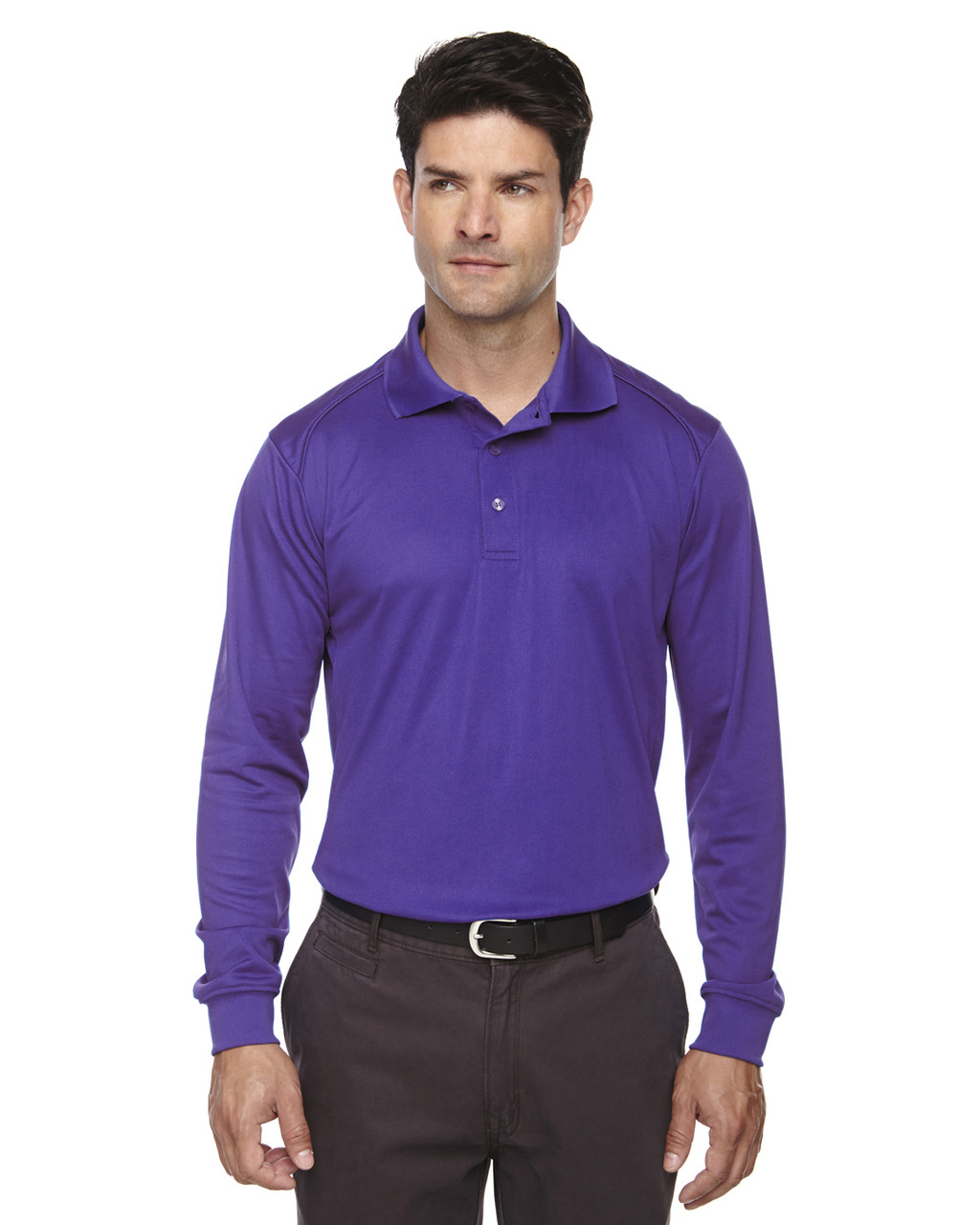 Campus Purple 85111 Ash City - Extreme Eperformance Men's Long-Sleeve Polo Shirt