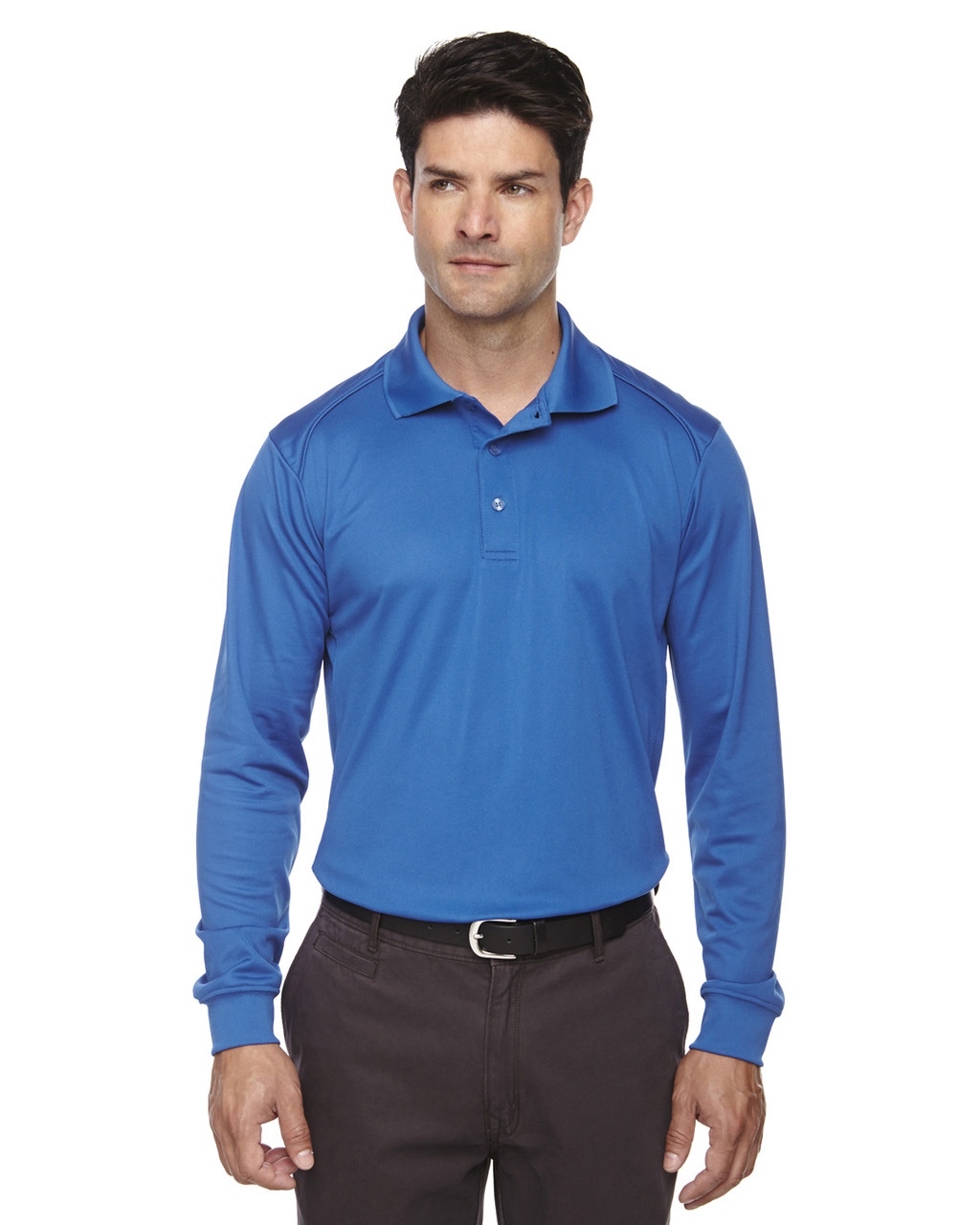 True Royal 85111 Ash City - Extreme Eperformance Men's Long-Sleeve Polo Shirt