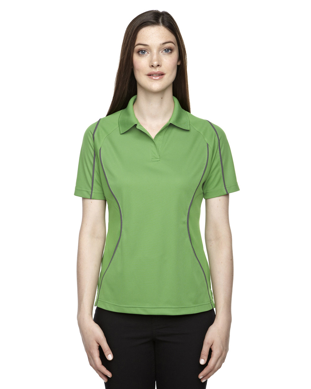 Valley Green - 75107 Ash City - Extreme Eperformance Ladies' Velocity Colourblock Polo Shirt with Piping