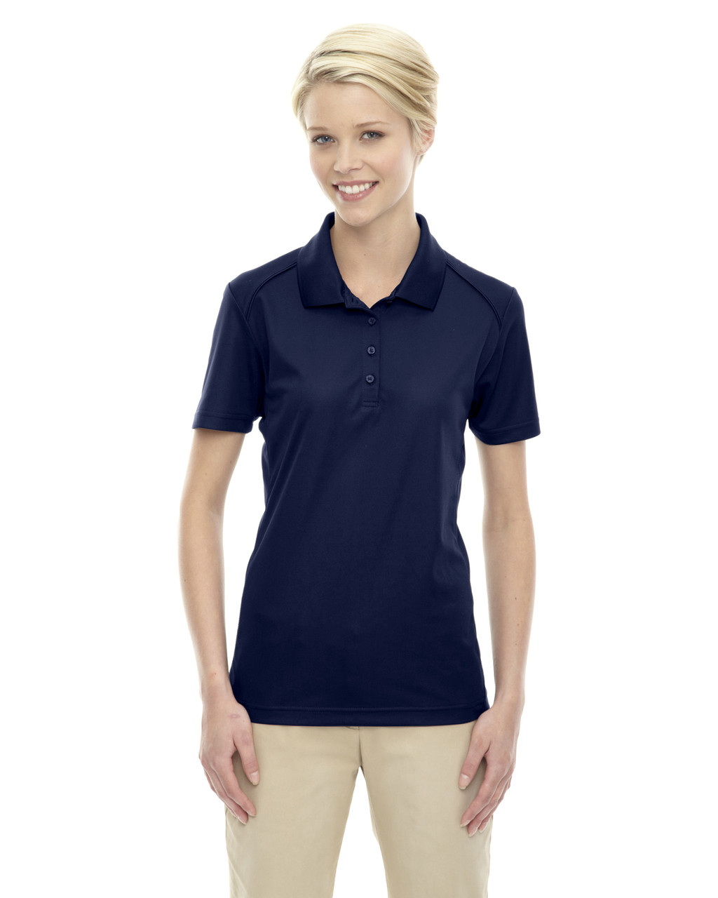 Classic Navy 75108 Ash City - Extreme Eperformance Ladies' Shield Short-Sleeve Polo Shirt
