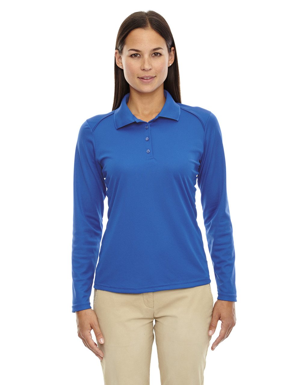 True Royal 75111 Ash City - Extreme Eperformance Ladies' Long-Sleeve Polo Shirt