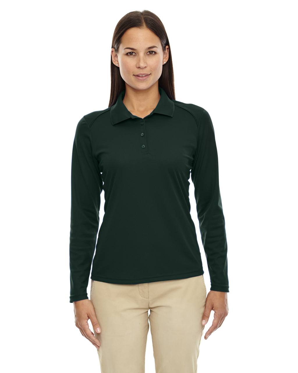 Forest Green 75111 Ash City - Extreme Eperformance Ladies' Long-Sleeve Polo Shirt