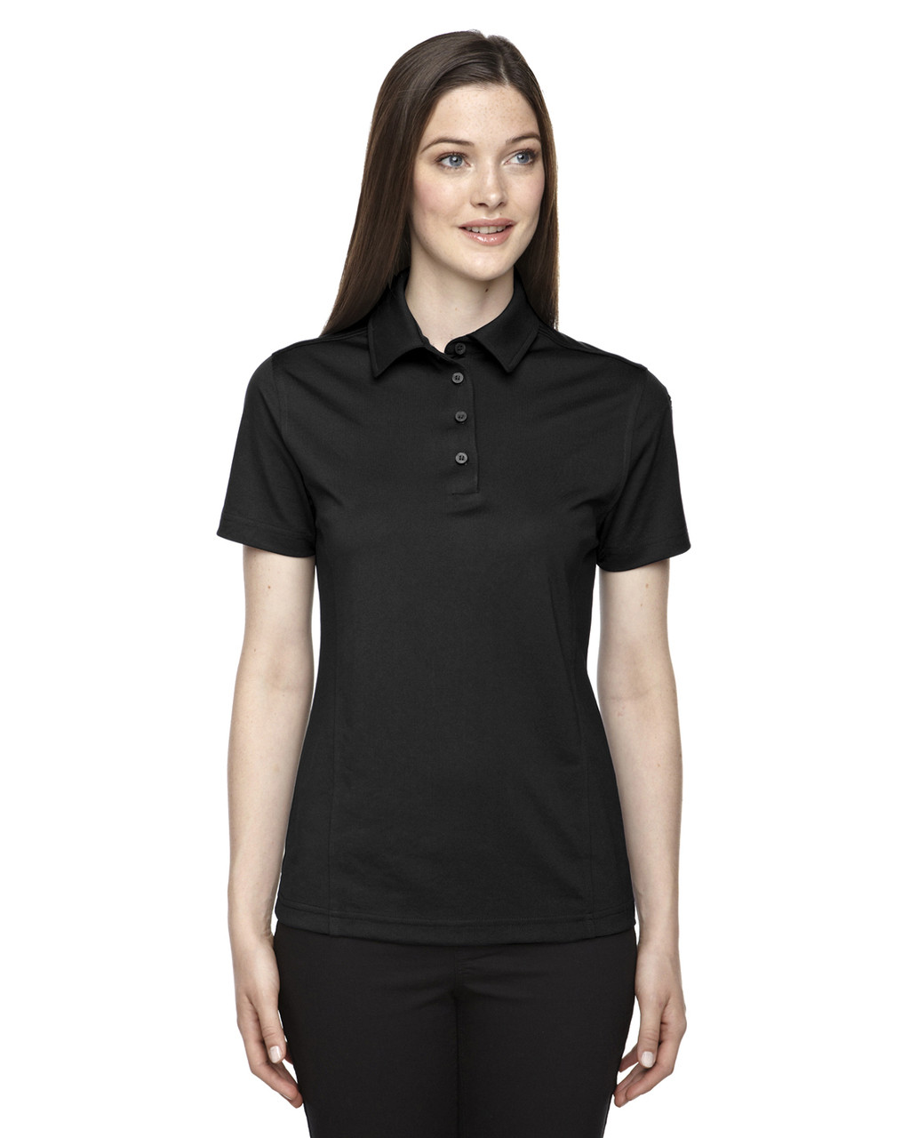 Black - 75114 Ash City - Extreme Eperformance Ladies Snag Protection Plus Polo Shirt