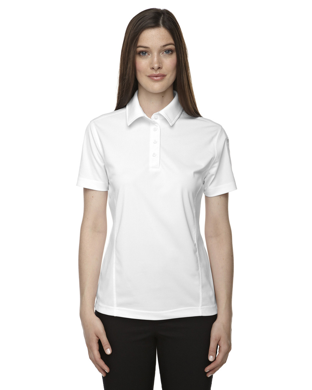 White - 75114 Ash City - Extreme Eperformance Ladies Snag Protection Plus Polo Shirt