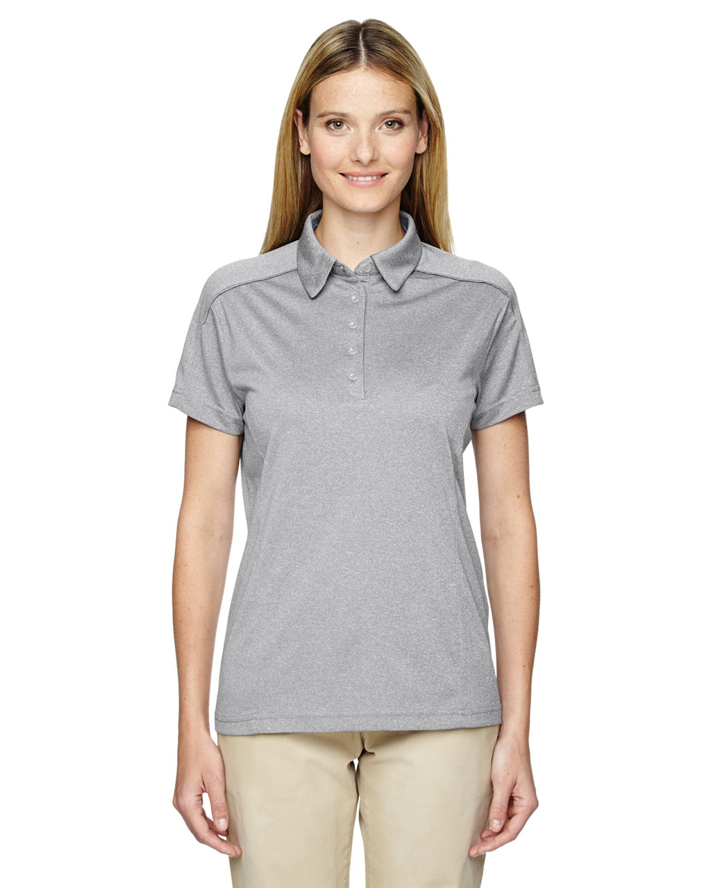 Light Grey 75117 Ash City - Extreme Eperformance Mélange Polo Shirt