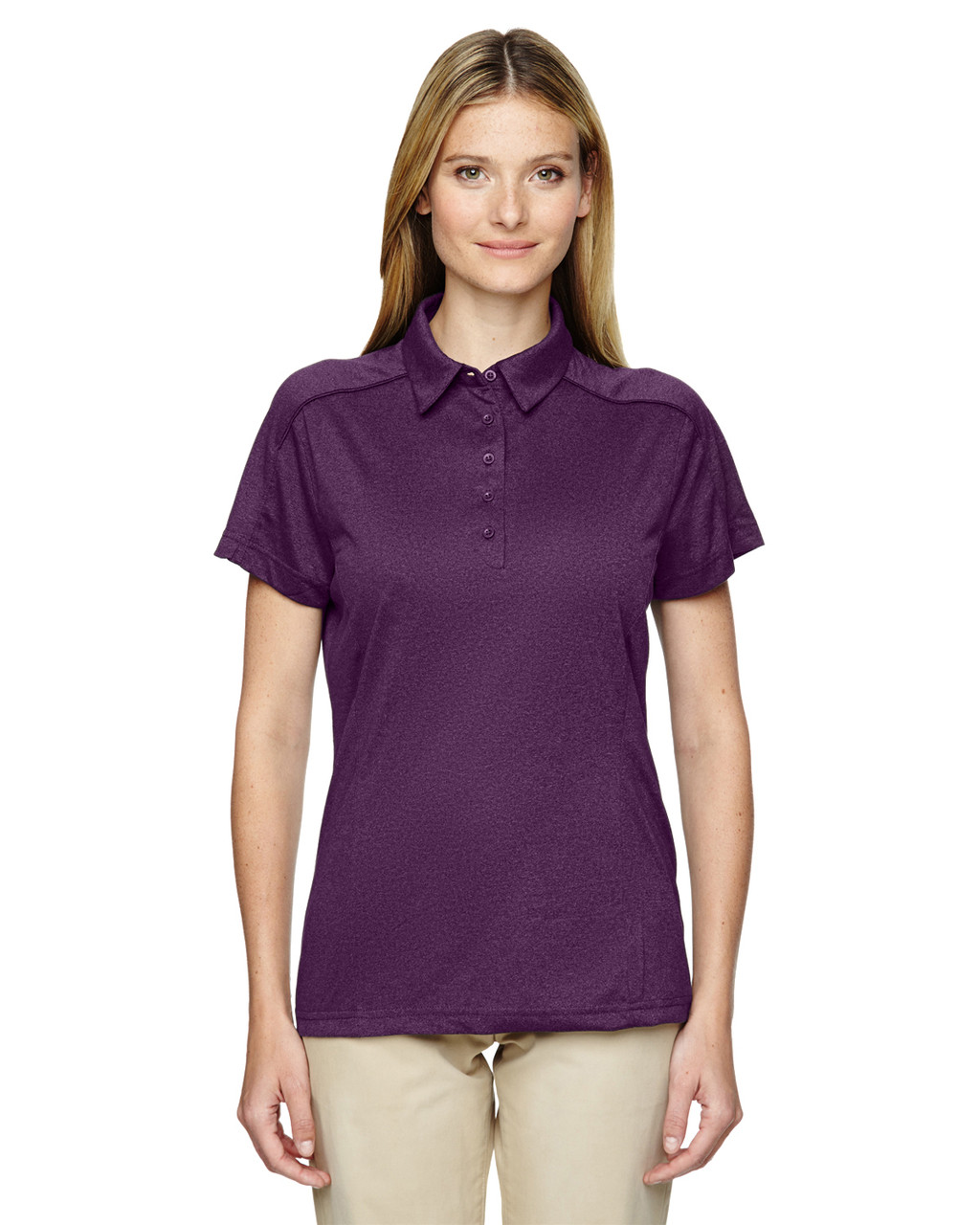 Mulbry Purpl 75117 Ash City - Extreme Eperformance Mélange Polo Shirt