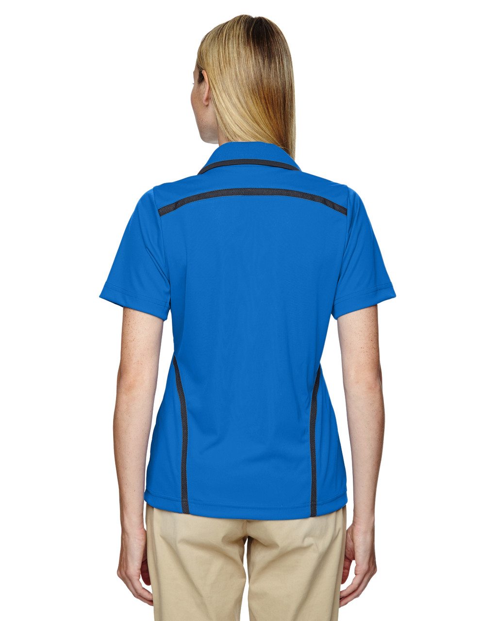 Light Nautical Blue - Back, 75118 Ash City - Extreme Eperformance Propel Interlock Polo Shirt with Contrast Tape   BlankClothing.ca