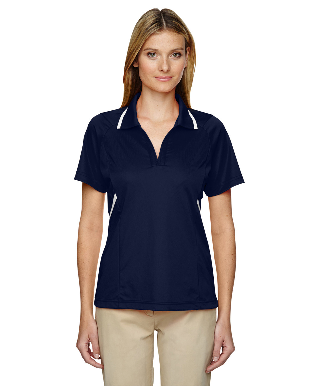 Classic Navy - 75118 Ash City - Extreme Eperformance Propel Interlock Polo Shirt with Contrast Tape