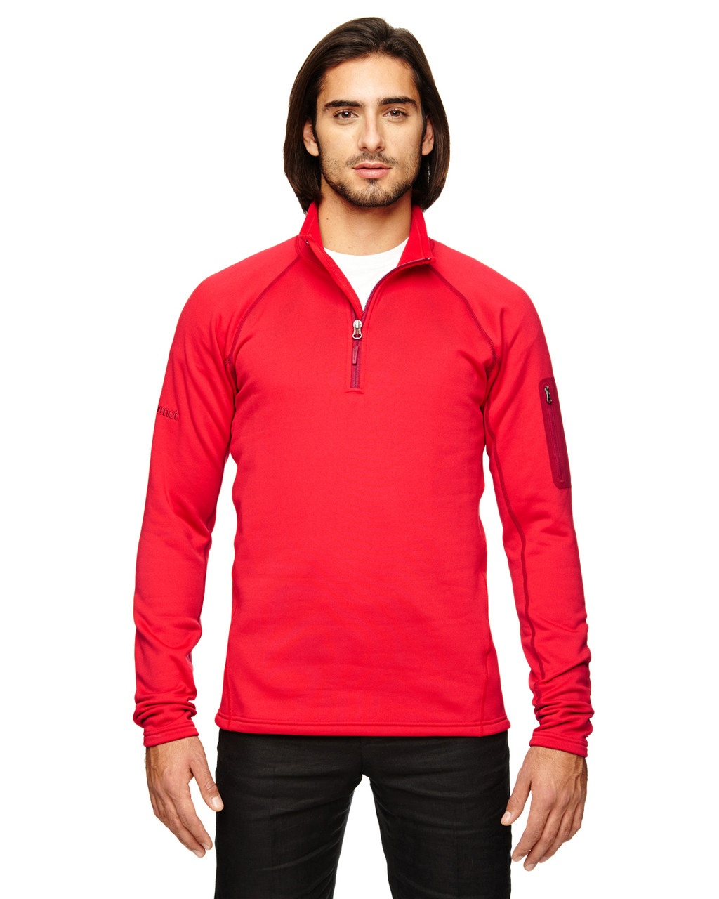 Team Red - 80890 Marmot Men's Stretch Fleece Half-Zip Sweatshirt | BlankClothing.ca