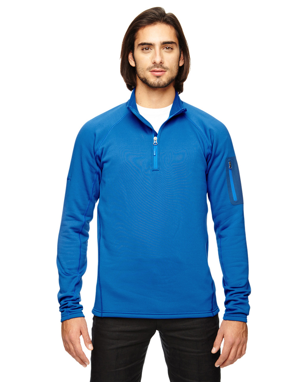 Blue Sapph - 80890 Marmot Men's Stretch Fleece Half-Zip Sweatshirt | BlankClothing.ca