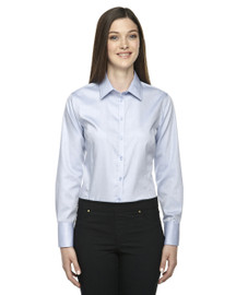 78673 North End Sport Blue Boulevard Wrinkle-Free Cotton Dobby Taped Shirt with Oxford Twill | Blankclothing.ca