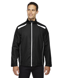 Black - 88188 North End Lightweight Recycled Polyester Jacket with Embossed Print | Blankclothing.ca