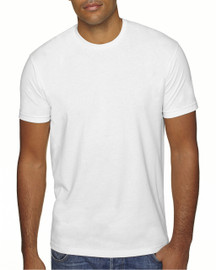 White - 6410 Next Level Men's Premium Fitted Sueded T-Shirt | Blankclothing.ca
