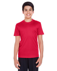 Sport Red - TT11Y Team 365 Youth Zone Performance Tee | BlankClothing.ca