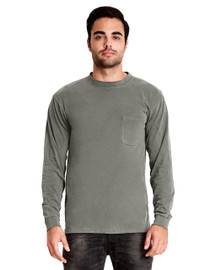 Lead - 7451 Next Level Adult Inspired Dye Long Sleeve Crew with Pocket | Blankclothing.ca