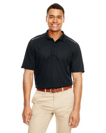 Black - 88181R Ash City - Core 365 Men's Radiant Performance Piqué Polo Shirt with Reflective Piping   Blankclothing.ca