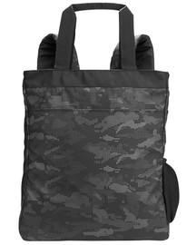 Black/Carbon - NE901 North End Reflective Convertible Backpack Tote | BlankClothing.ca
