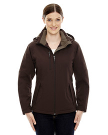 Dark Chocolate - 78080 North End Ladies' Insulated Soft Shell Jacket With Detachable Hood | Blankclothing.ca