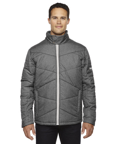 Carbon Heather 88698 North End Sport Blue Avant Insulated Jacket with Heat Reflect Technology   Blankclothing.ca