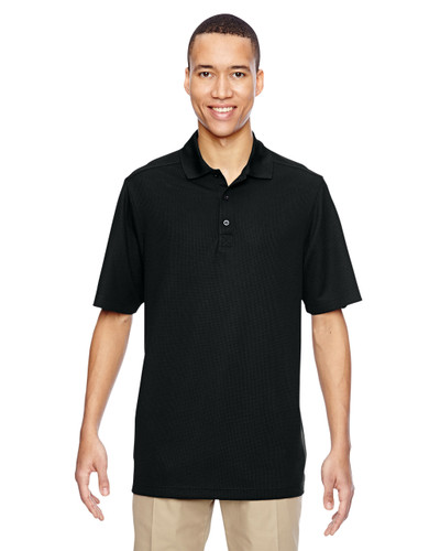 Black - 85121 Ash City - North End Excursion Nomad Performance Waffle Polo Shirt | Blankclothing.ca