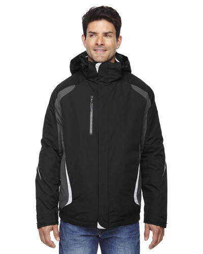 Black - 88195 Ash City - North End Height 3-in-1 Jacket with Insulated Liner   Blankclothing.ca