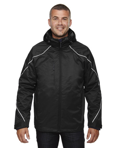 Black - 88196T North End Tall Angle 3-in-1 Jacket with Bonded Fleece Liner | Blankclothing.ca