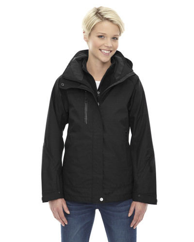 Black - 78178 North End Caprice 3-in-1 Jacket with Soft Shell Liner   Blankclothing.ca