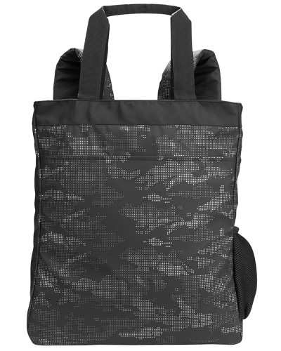 Black/Carbon - NE901 North End Reflective Convertible Backpack Tote   BlankClothing.ca