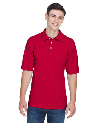 Red - M265T Harriton Men's Tall 5.6 oz. Easy Blend™ Polo   BlankClothing.ca