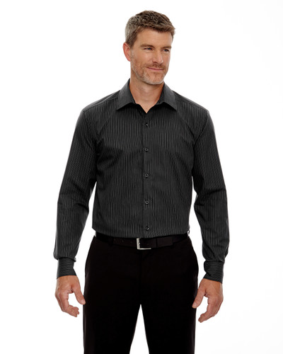 88674 North End Men's Boardwalk Wrinkle-Free Two-Ply 80's Cotton Striped Tape Shirt | BlankClothing.ca