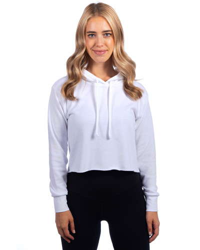 9384 Next Level Ladies' Cropped Pullover Hooded Sweatshirt | BlankClothing.ca