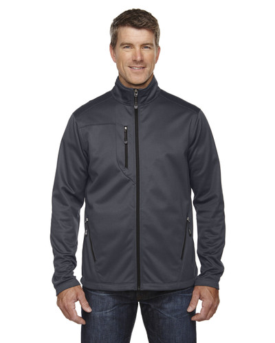 Carbon - 88213 North End Men's Trace Printed Fleece Jacket   Blankclothing.ca