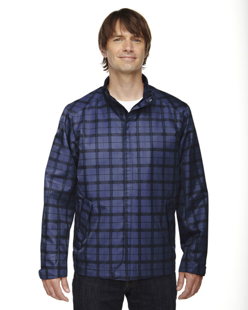 Night - 88671 North End Sport Blue Locale Lightweight City Plaid Jacket | Blankclothing.ca