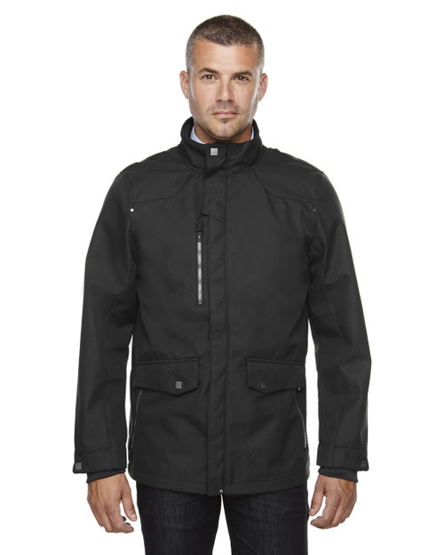 Black 88672 North End Sport Blue Uptown Three-Layer Light Bonded Soft Shell Jacket | Blankclothing.ca