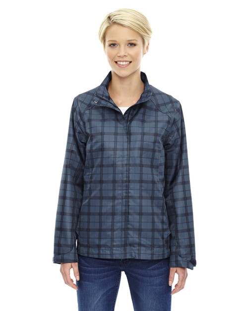 Night 78671 North End Sport Blue Locale Lightweight City Plaid Jacket | Blankclothing.ca