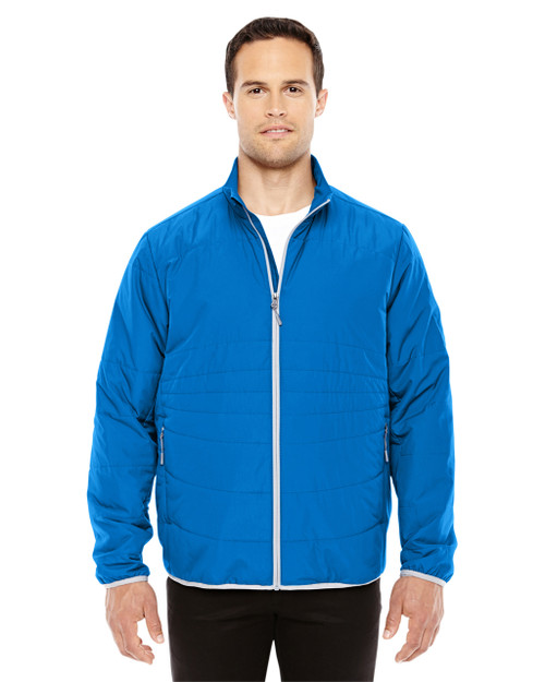 Nautical Blue/Platinum - 88231 North End Men's Resolve Interactive Insulated Packable Jacket | Blankclothing.ca