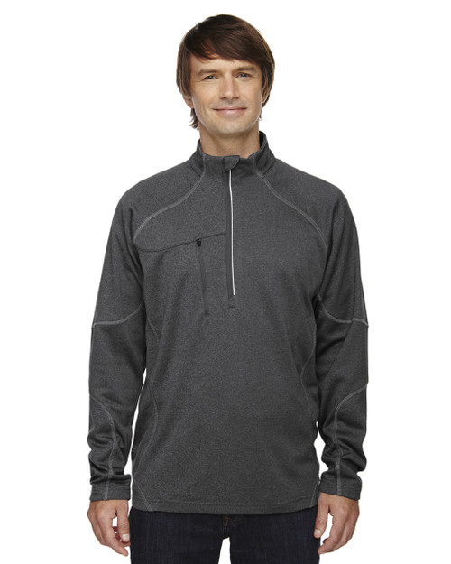 Carbon Heath - 88175 North End Men's Catalyst Performance Fleece Half-Zip Sweater | Blankclothing.ca