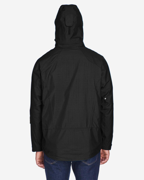 Black - Back, 88178 North End Caprice 3-in-1 Jacket with Soft Shell Liner | BlankClothing.ca