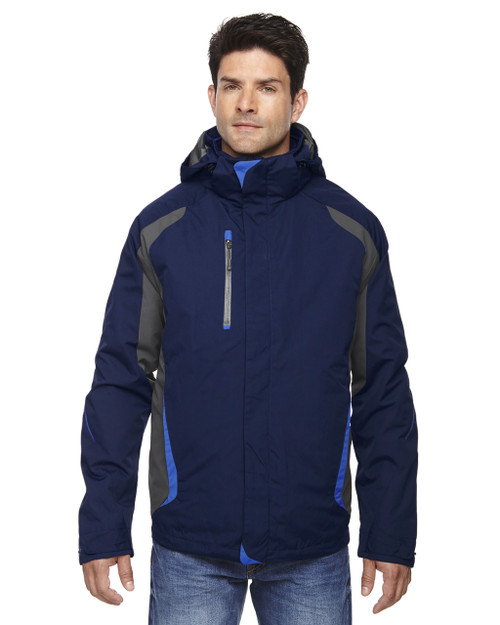 Navy 88195 Ash City - North End Height 3-in-1 Jacket with Insulated Liner | Blankclothing.ca