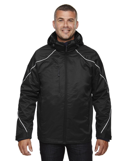 Black 88196T - North End Tall Angle 3-in-1 Jacket with Bonded Fleece Liner | Blankclothing.ca