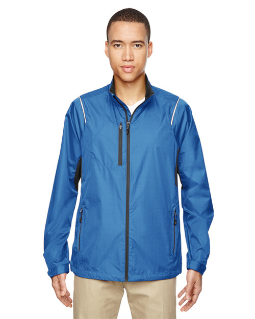 Nautical Blue - 88200 North End Sustain Lightweight Recycled Polyester Dobby Jacket with Print | Blankclothing.ca