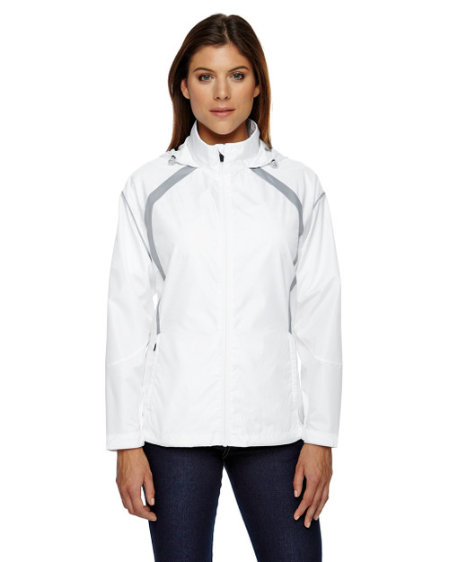 White - 78168 North End Sirius Lightweight Jacket with Embossed Print | Blankclothing.ca