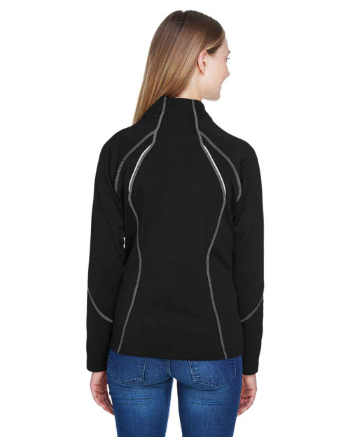 Black - Back, 78174 North End Ladies' Gravity Performance Fleece Jacket | BlankClothing.ca