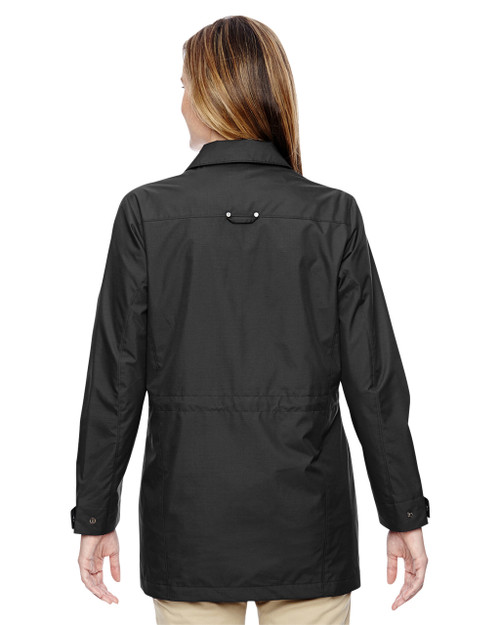Black - back 78218 North End Excursion Ambassador Lightweight Jacket with Fold Down Collar   Blankclothing.ca