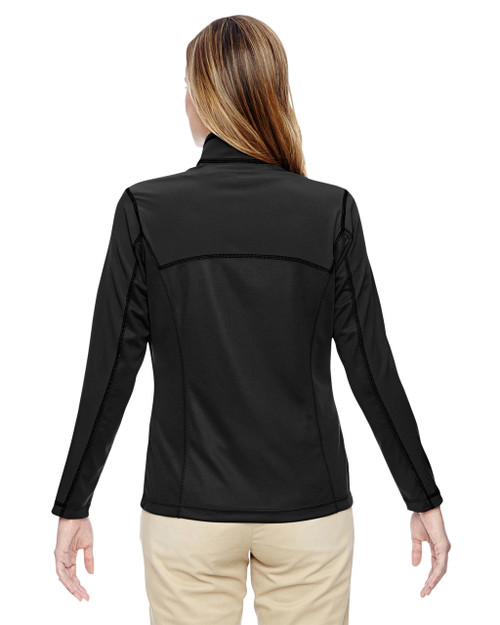 Black - back 78220 North End Ladies' Excursion Circuit Performance Half-Zip Shirt | Blankclothing.ca