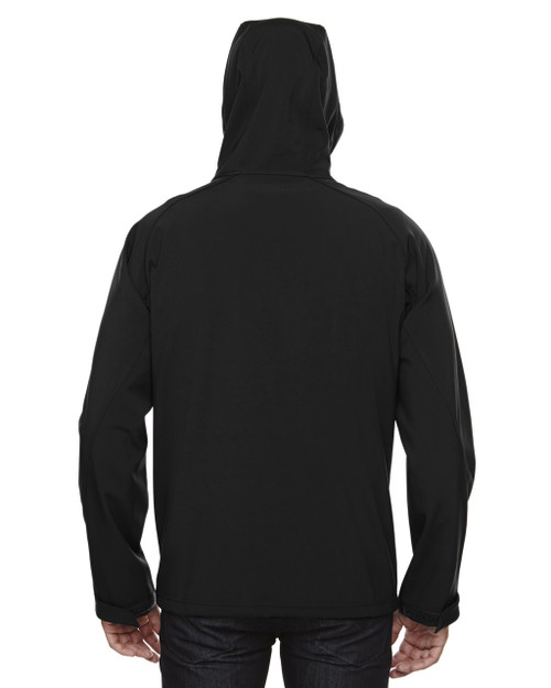 Black-back 88166 North End Prospect Two-Layer Fleece Bonded Soft Shell Hooded Jacket | Blankclothing.ca
