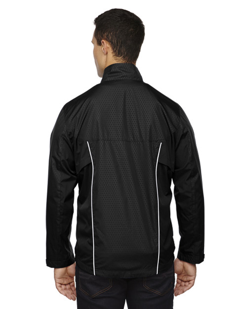 Black-back 88188 North End Lightweight Recycled Polyester Jacket with Embossed Print | Blankclothing.ca