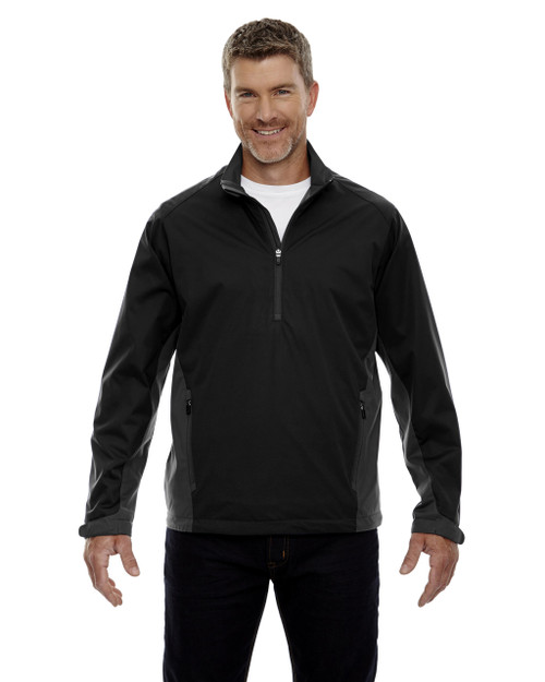 Black - 88656 North End Sport Red Laminated Performance Stretch Wind Shirt