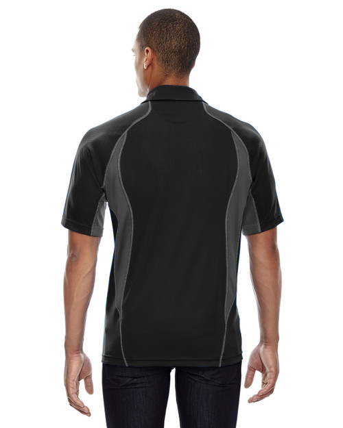 Black-back 88657 North End Sport Red Serac UTK Performance Zippered Polo Shirt