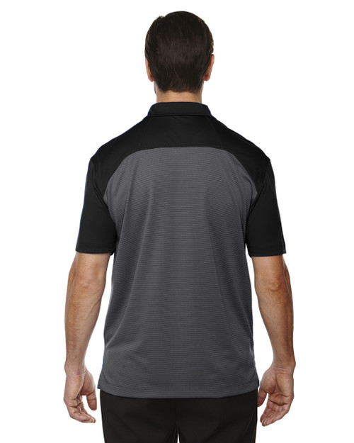 Black-back 88676 North End Sport Red Symmetry UTK Coffee Performance Polo